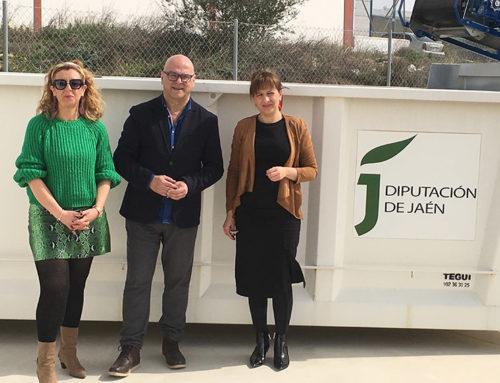 Puesta en servicio del nuevo punto de acopio de residuos de la construcción y demolición en Lopera