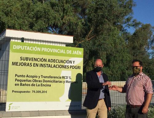 Diputación entrega al Ayuntamiento de Baños de la Encina el punto de acopio de residuos de la construcción