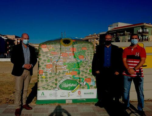 El diputado de Servicios Municipales asiste a la puesta en servicio de nuevos contenedores de vidrio en Torredonjimeno